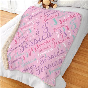 Personalized Kids Blankets | Girls Name Blankets