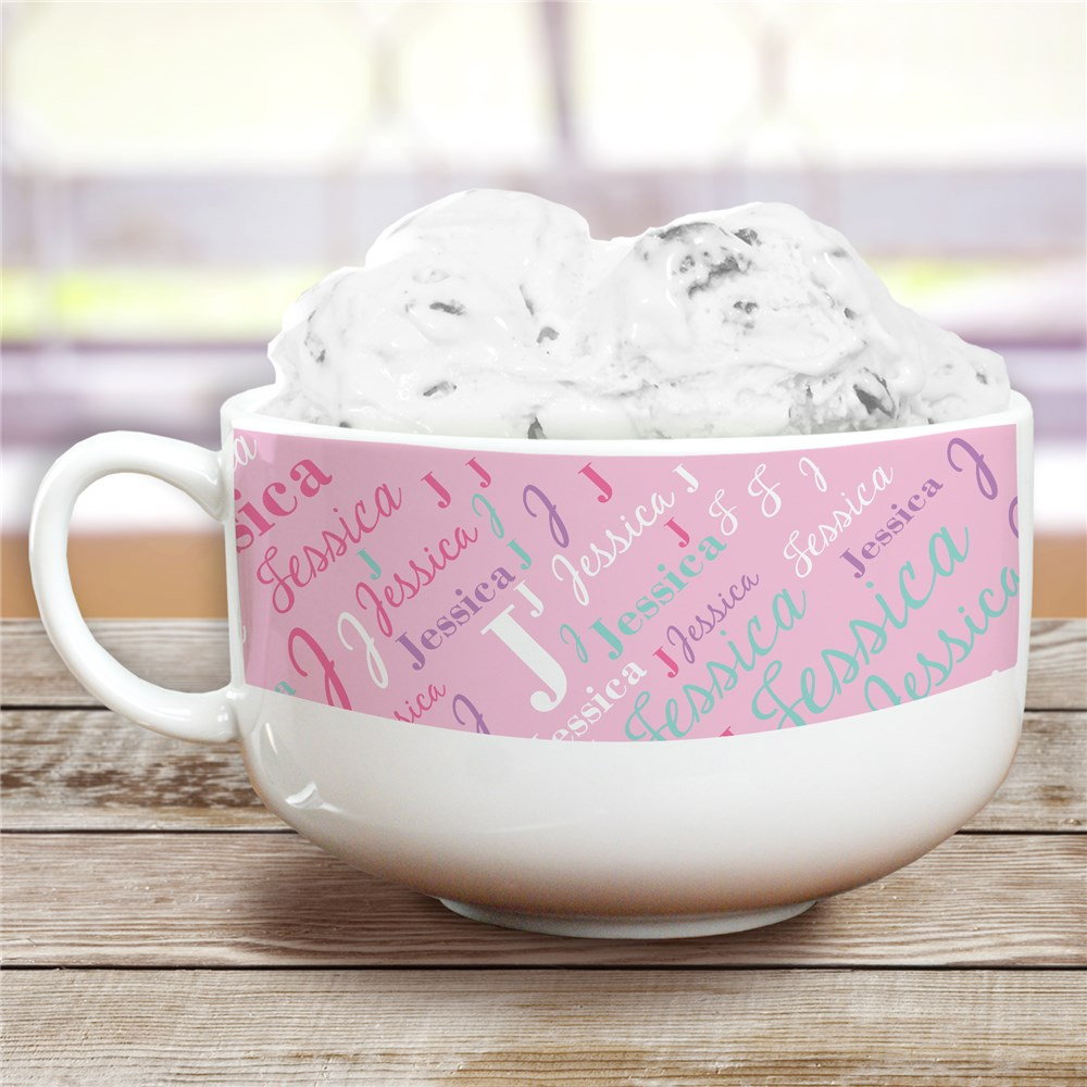 Personalized Ice Cream Bowl | Girls Name Personalized Gifts
