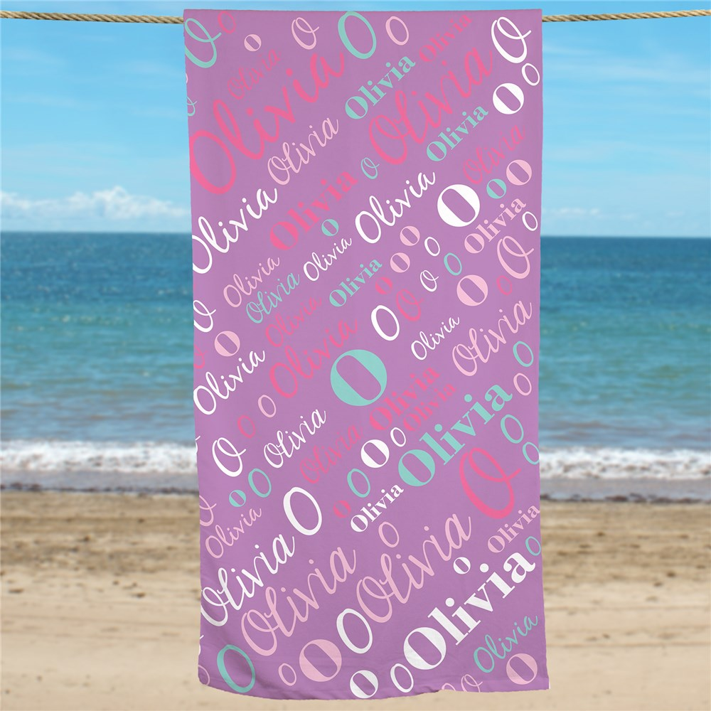 Name Towels | Personalized Girls Beach Towels