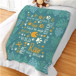 Personalized Jungle Kids Room Decor | Personalized Blankets
