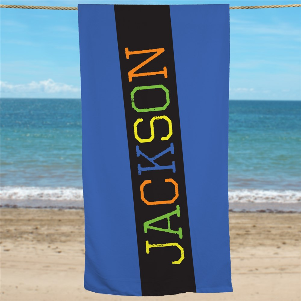 Kids Beach Towel | Personalized Beach Towel With Names