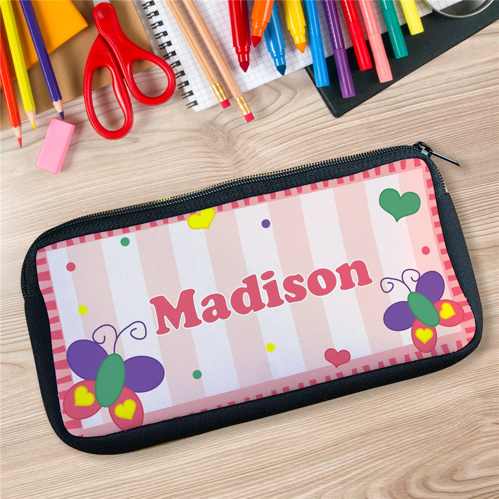 Beautiful Butterfly Personalized Pencil Case U14097