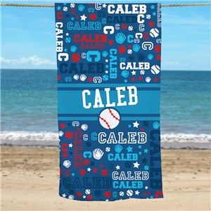 Sports Towel For Kids | Personalized Kids Beach Towel