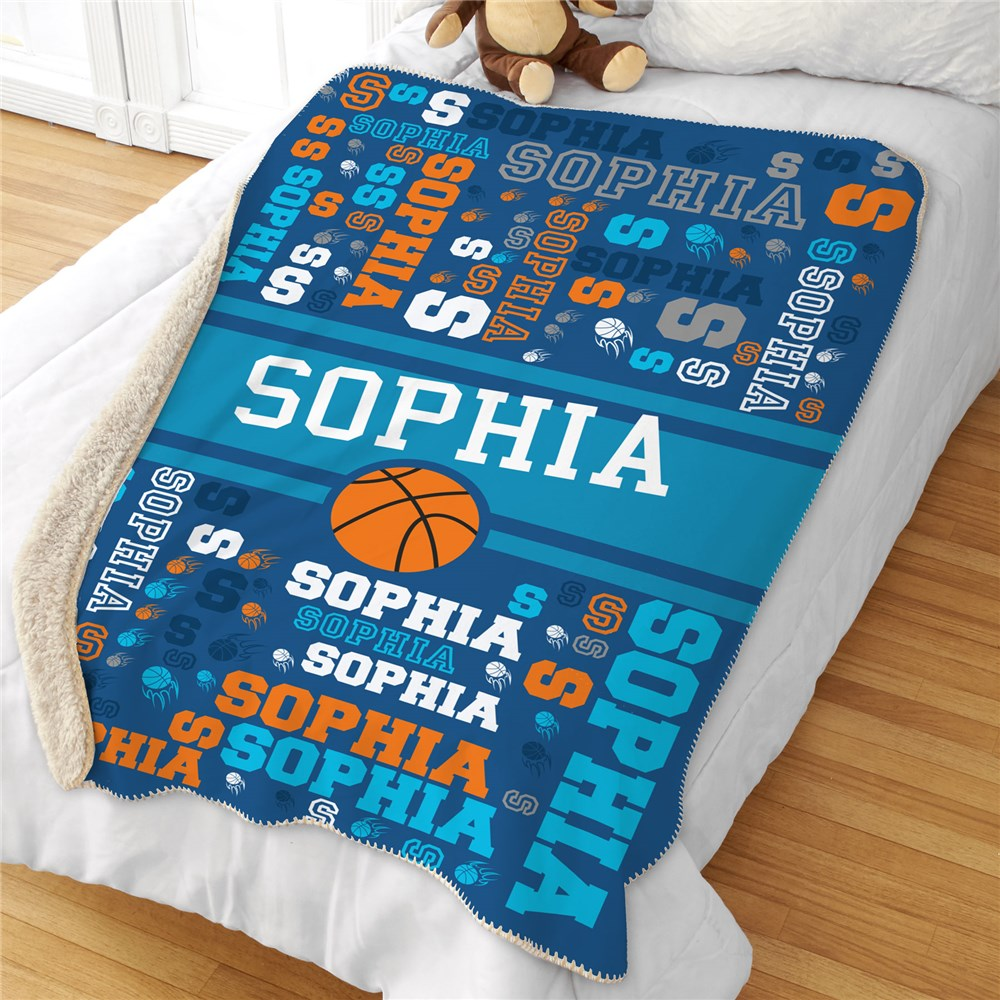 Personalized Kids Blankets | Kids Room Sports Decorations