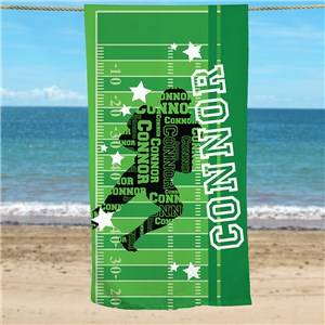Sports Beach Towel | Personalized Kids Sport Towel