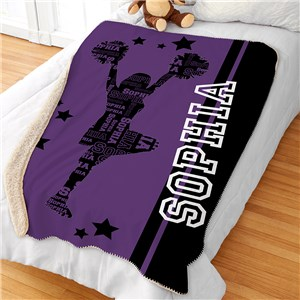 Personalized Blankets | Girls Sports Room Decor