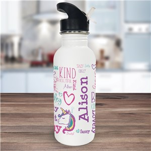 Unicorn Water Bottle | Unicorn Gifts For Kids