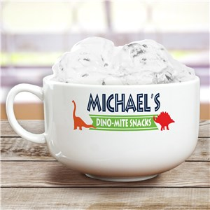Personalized Snack Bowl | Dinosaur Kids Gifts