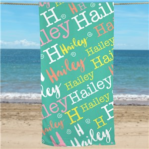 Personalized Girls Beach Towel | Beach Towels With Name