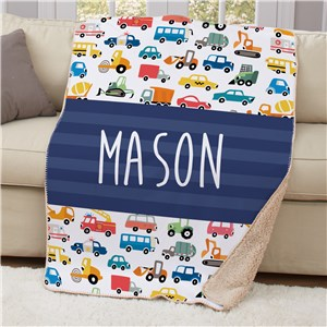 Kids Truck Bedroom Decor | Personalized Kids Blankets