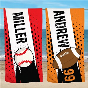 Personalized Beach Towels | Sports Towels For Kids
