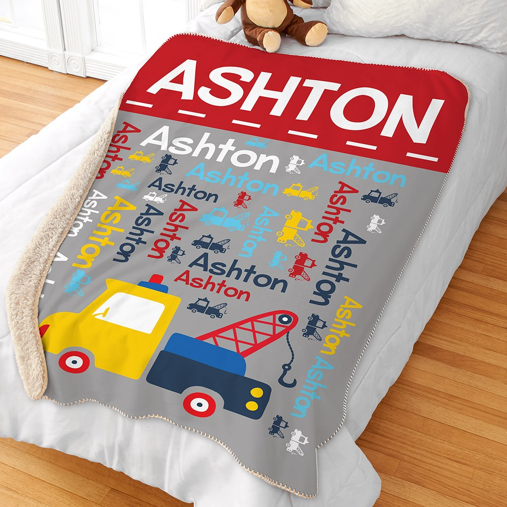 Personalized Blankets | Truck Decor For Kids