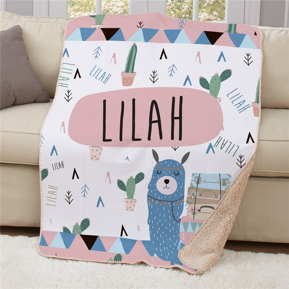 Personalized Blankets | Llama Home Decor