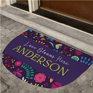 Spring Doormat | Colorful Personalized Doormat
