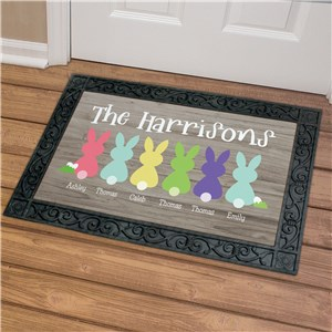 Easter Doormat | Personalized Easter Bunny Doormat