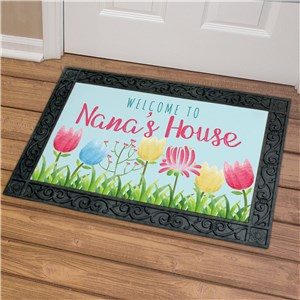 Personalized Door Mats | Flower Doormat