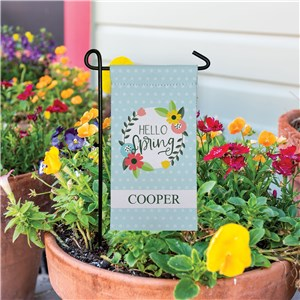 Personalized Mini Floral Garden Flag