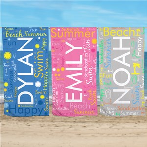 Personalized Beach Towel | Beach Towel With Name