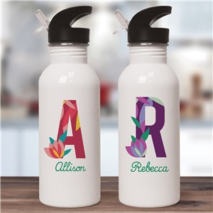 Personalized Water Bottle | Pretty Reusable Water Bottle For Ladies