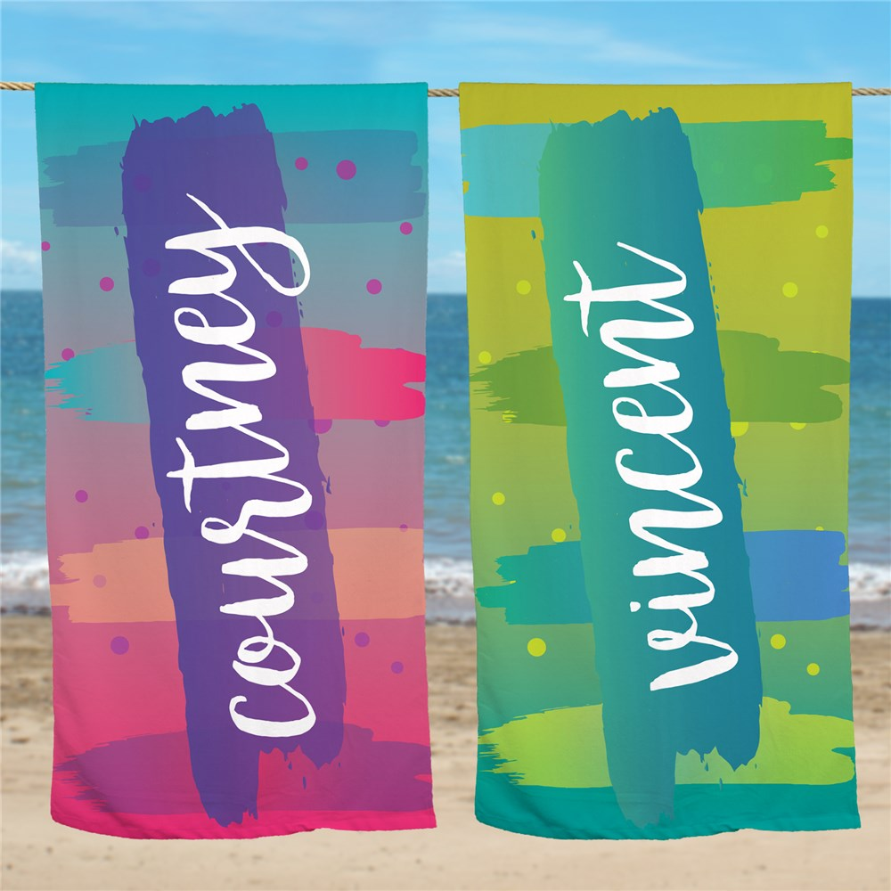 Personalized Beach Towels | Colorful Beach Towels