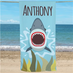 Personalized Beach Towel | Shark Gifts For Kids