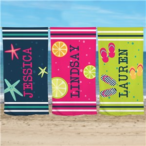 Personalized Beach Towels | Beach Towel With Name