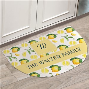 Personalized Half Moon Doormats | Lemon Home Decor