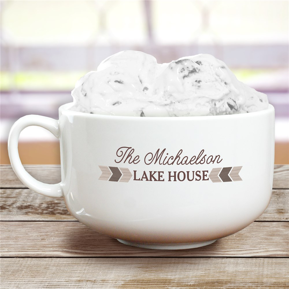 Personalized Treat Bowl | Vacation House Ice Cream Bowl