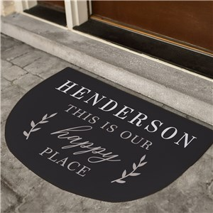 Happy Place Personalized Doormat | Personalized Happy Place Mat