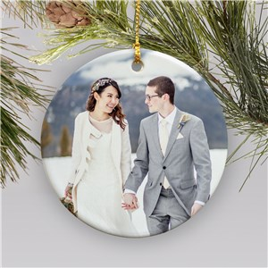 Personalized Circle Photo Christmas Ornament | Picture Ornaments
