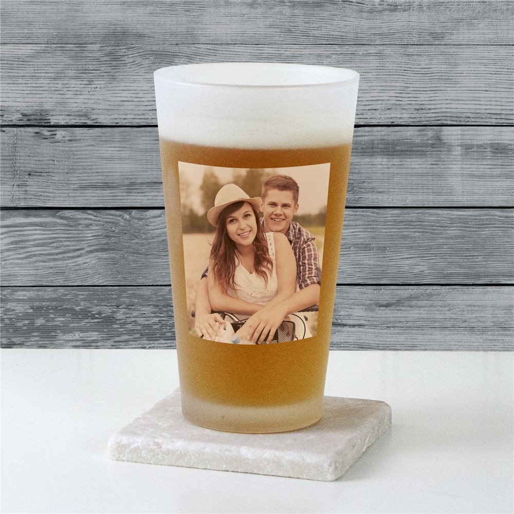 Photo Frosted Pint Glass | Personalized Gifts for Him