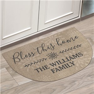 Personalized Doormats | Bless This Home Personalized Doormat