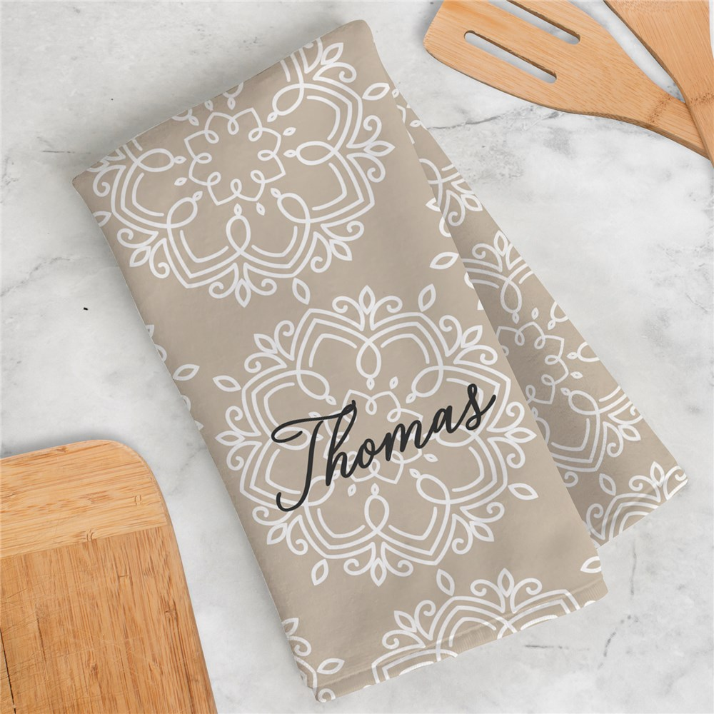 Stylish Kitchen Decor | Damask Kitchen Decor With Name