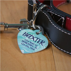 Blue Personalized Pet Tag | Customized Blue Dog Tag