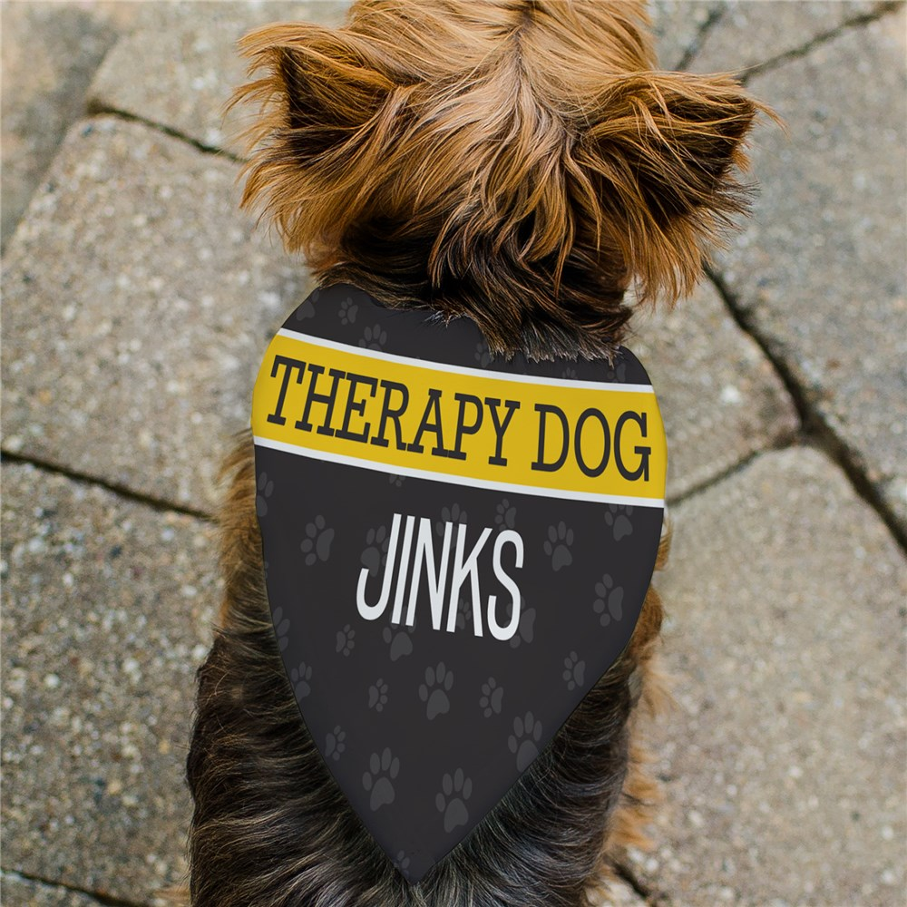 Personalized Pet Accessories | Bandana For Therapy Dog