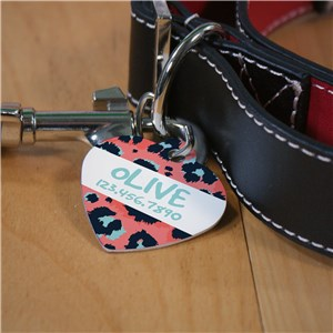 Custom Leopard Print Pet Tag | Heart Pet Tags