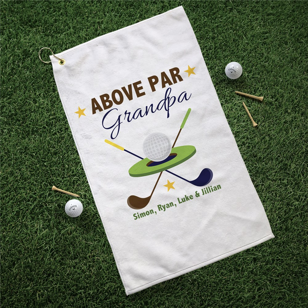 Personalized Golf Towel | Above Par Personalized Golf Towel