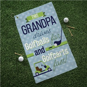 Personalized Golf Towel | Drive Golfballs and Golf Carts Funny Gift