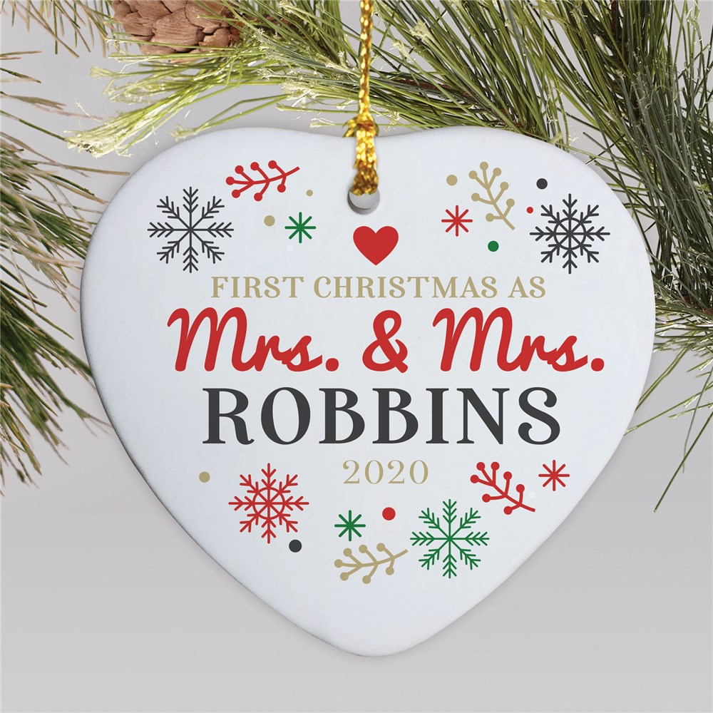 Couples Ornaments | Couple's First Christmas Personalized Ornament