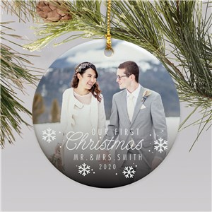 Customized Wedding Ornaments | Personalized Wedding Photo Ornament