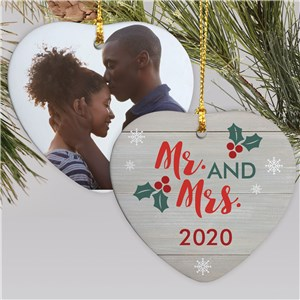 Married Photo Ornament | Personalized Couple's Christmas Ornament