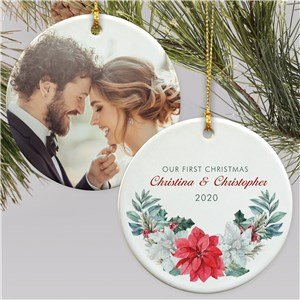 Personalized Wedding Ornament | First Christmas Photo Ornament