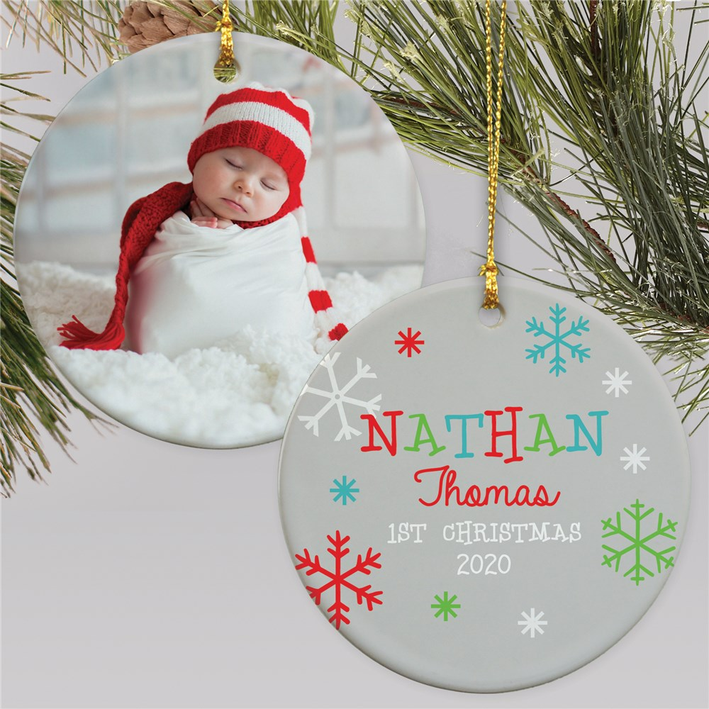 Photo Ornament For Baby | Baby's 1st Christmas Ornament