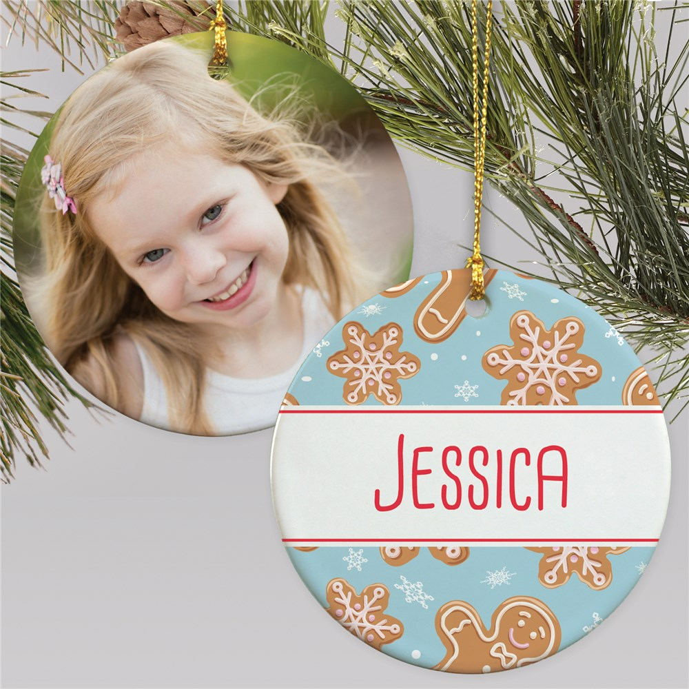 Photo Ornament With Gingerbread | Kids Photo Christmas Ornament