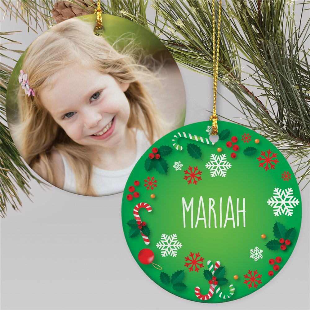Holiday Photo Ornament | Christmas Themed Photo Ornament