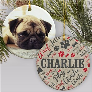Personalized Pet Ornament | Pet Photo Ornament
