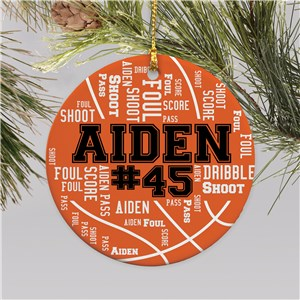 Personalized Sports Ornaments | Personalized Kids Christmas Ornaments