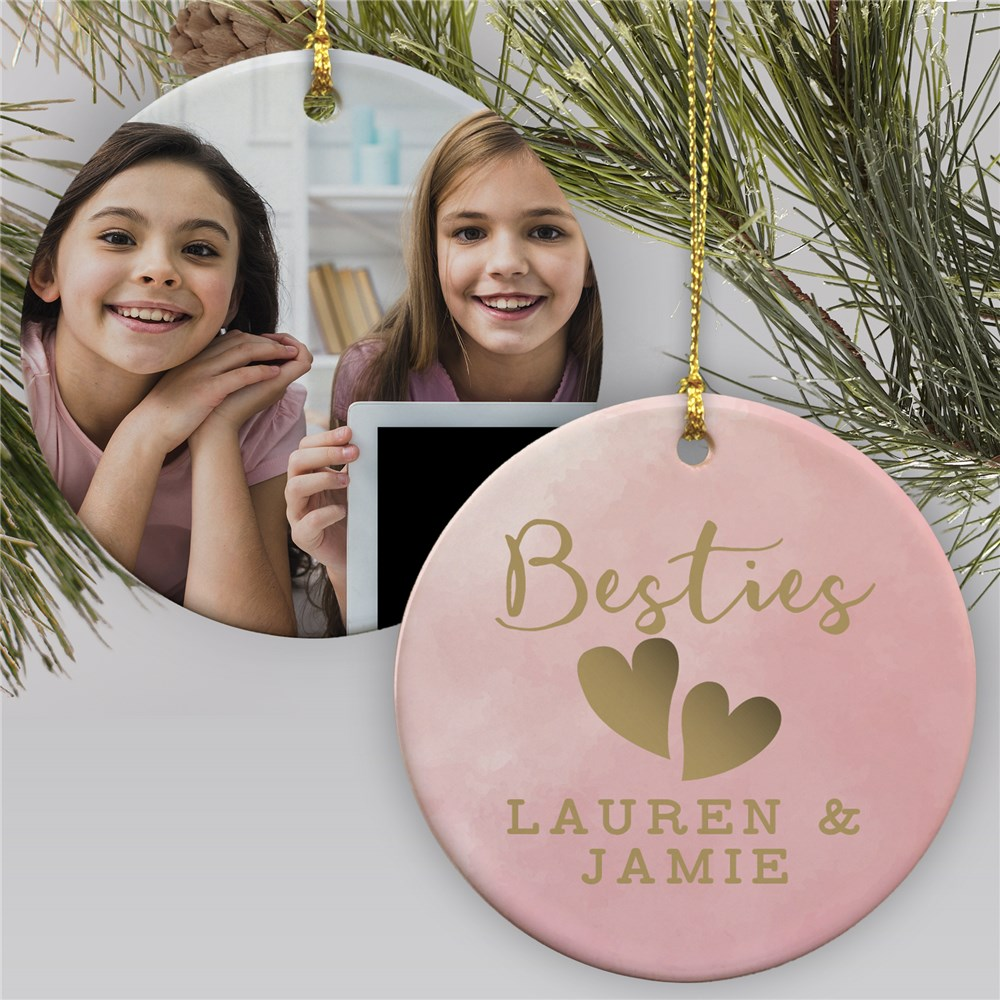 Besties Photo Ornament | Personalized Besties Christmas Ornament