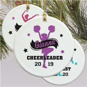 Girls Sports Personalized Ornament | Customized Sports Girl Ornament