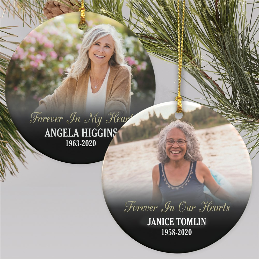 Memorial Christmas Ornaments | Photo Ornament In Memory